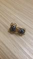 Серьги-гвоздики Синие жуки
