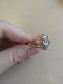 Оригинальное кольцо с аметистом