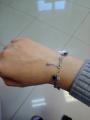 Очень красивый браслет, с разными вставками и липестками