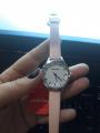 Женские часы с розовым ремешком