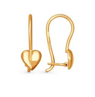 Золотые серьги SOKOLOV 020095*: красное и розовое золото 585 пробы — купить в Екатеринбурге, фото, артикул 37470 — интернет-магазин SUNLIGHT