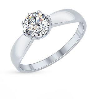 Серебряное кольцо с фианитами SOKOLOV 89010029: белое серебро 925 пробы, фианит — купить в интернет-магазине SUNLIGHT, фото, артикул 64108