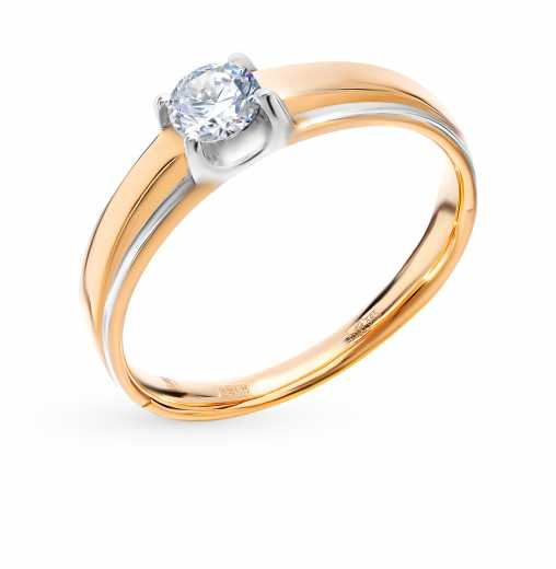 87cee7512472 Кольцо «Бриллианты Якутии» с 1 бриллиантом, 0.33 карат  Розовое золото 585  пробы −52% SUNLIGHT