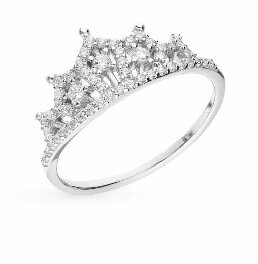 9d7996f2ce8c Серебряные кольца в виде короны — купить недорого в интернет-магазине  SUNLIGHT в Москве, выбрать кольцо из серебра в виде короны в каталоге с  фото и ценами