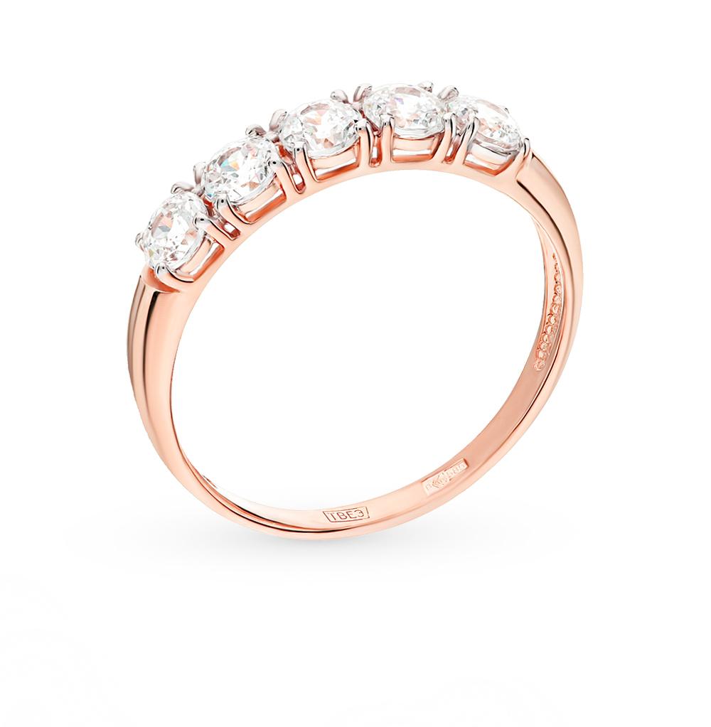 золотое кольцо с фианитами SOKOLOV 81010281*