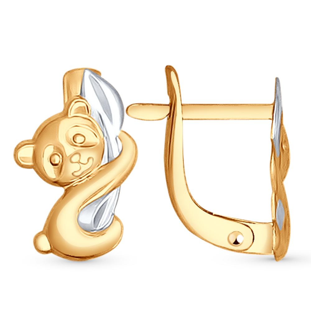золотые серьги SOKOLOV 027410*