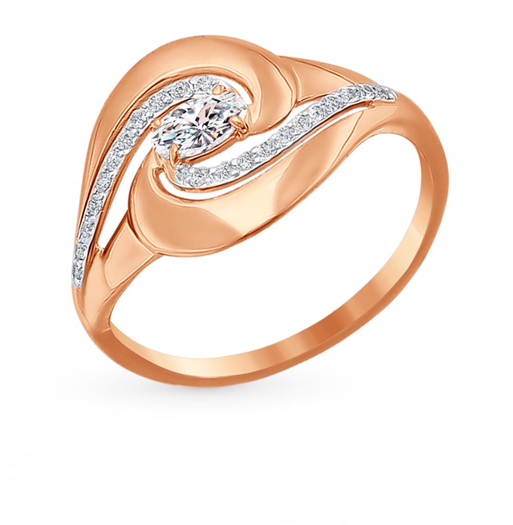 Фото «Золотое кольцо с фианитами SOKOLOV 016657*»