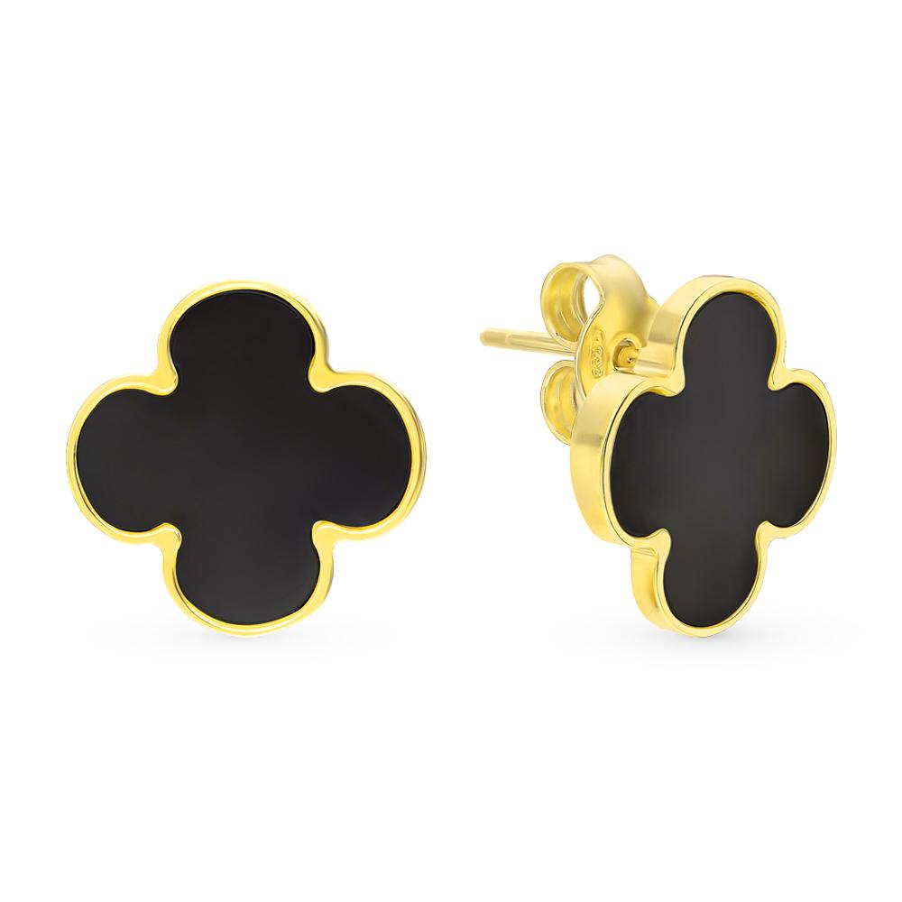 Фото «Золотые серьги с ониксом»
