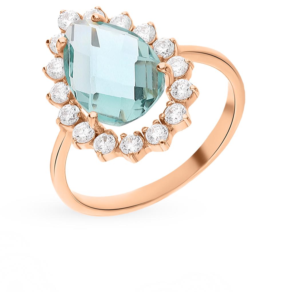 Золотое кольцо с кварцем и фианитами в Санкт-Петербурге