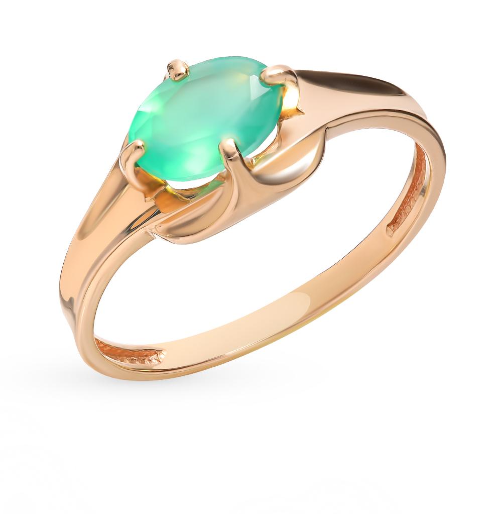 золотое кольцо с агатом