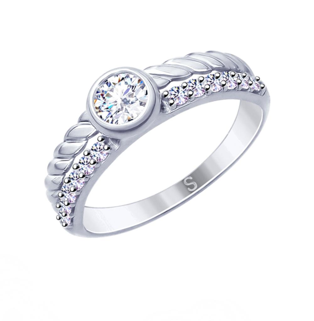 Серебряное кольцо с фианитами SOKOLOV 94012638 в Екатеринбурге