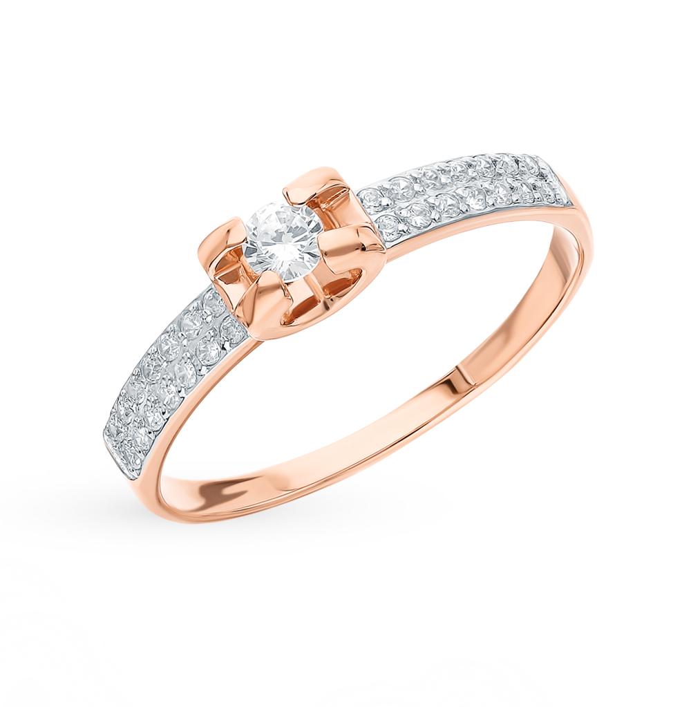 Фото «Золотое кольцо с фианитами SOKOLOV 018492*»