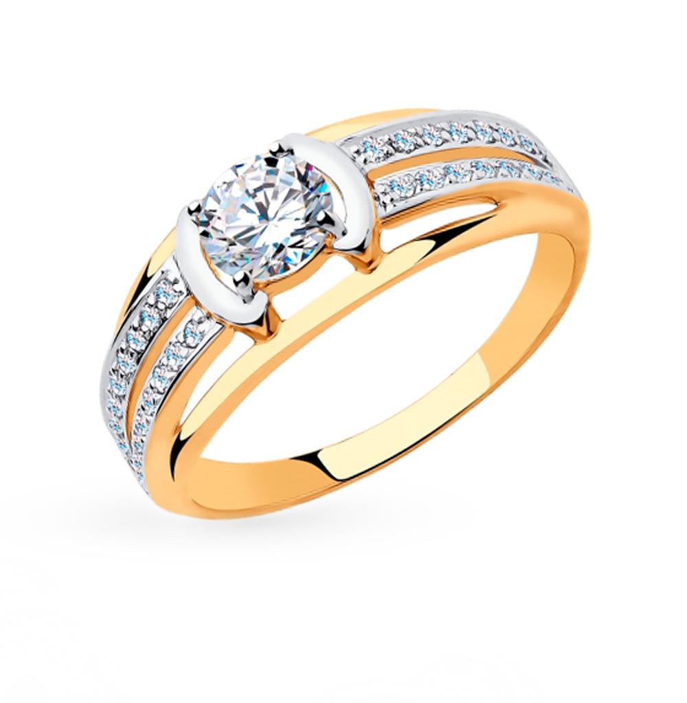 Фото «Золотое кольцо с фианитами SOKOLOV 018320»