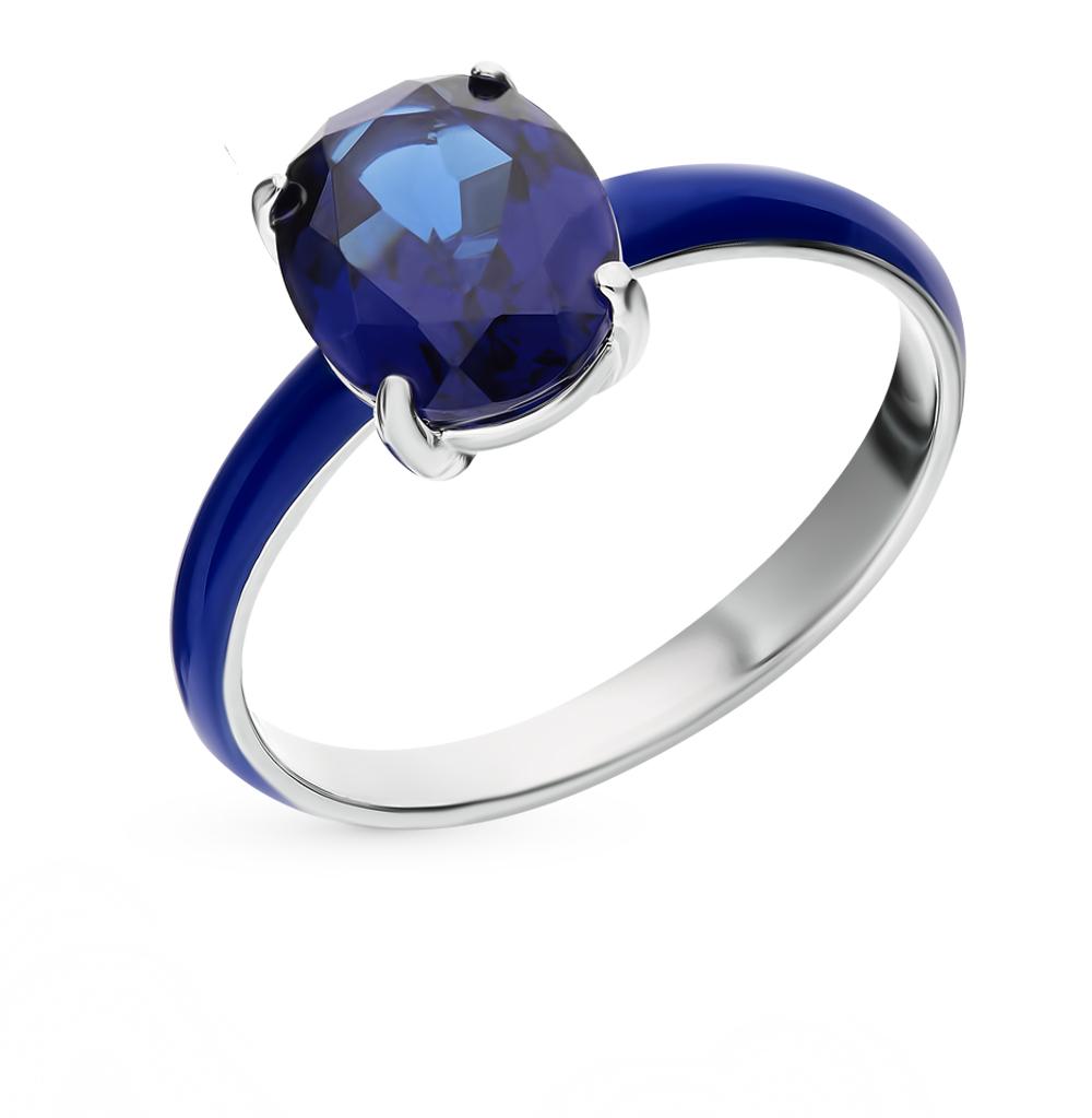 серебряное кольцо с наноситалами и эмалью
