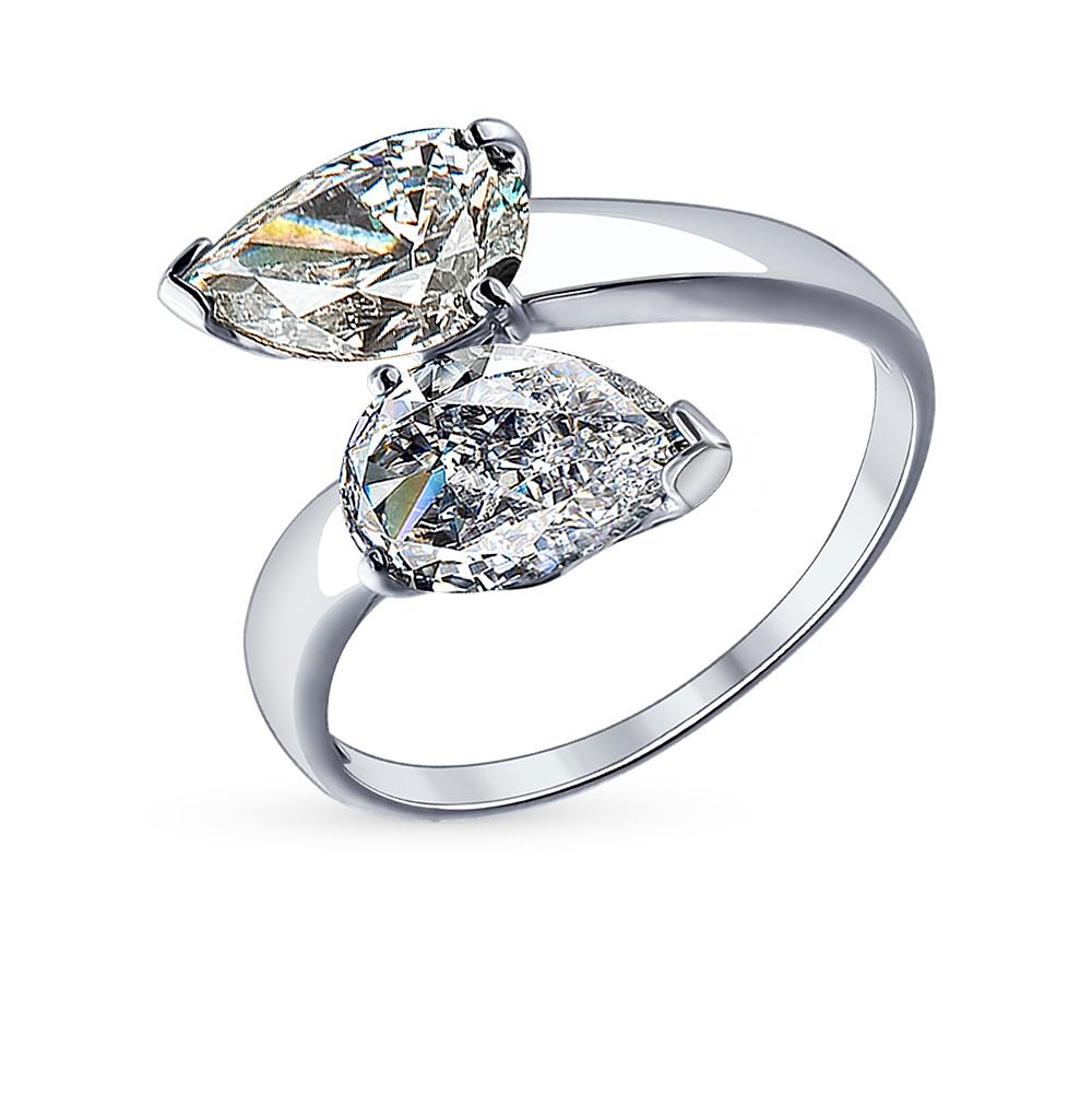 Фото «Серебряное кольцо с фианитами SOKOLOV 94012080»