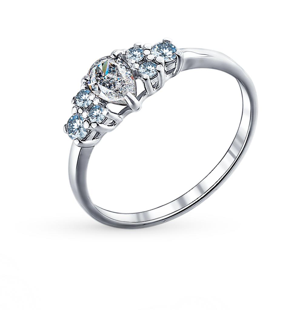 Фото «Серебряное кольцо с фианитами SOKOLOV 94011290»