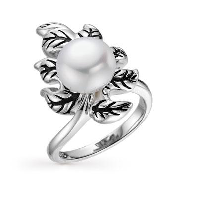 Серебряное кольцо с жемчугом в Санкт-Петербурге