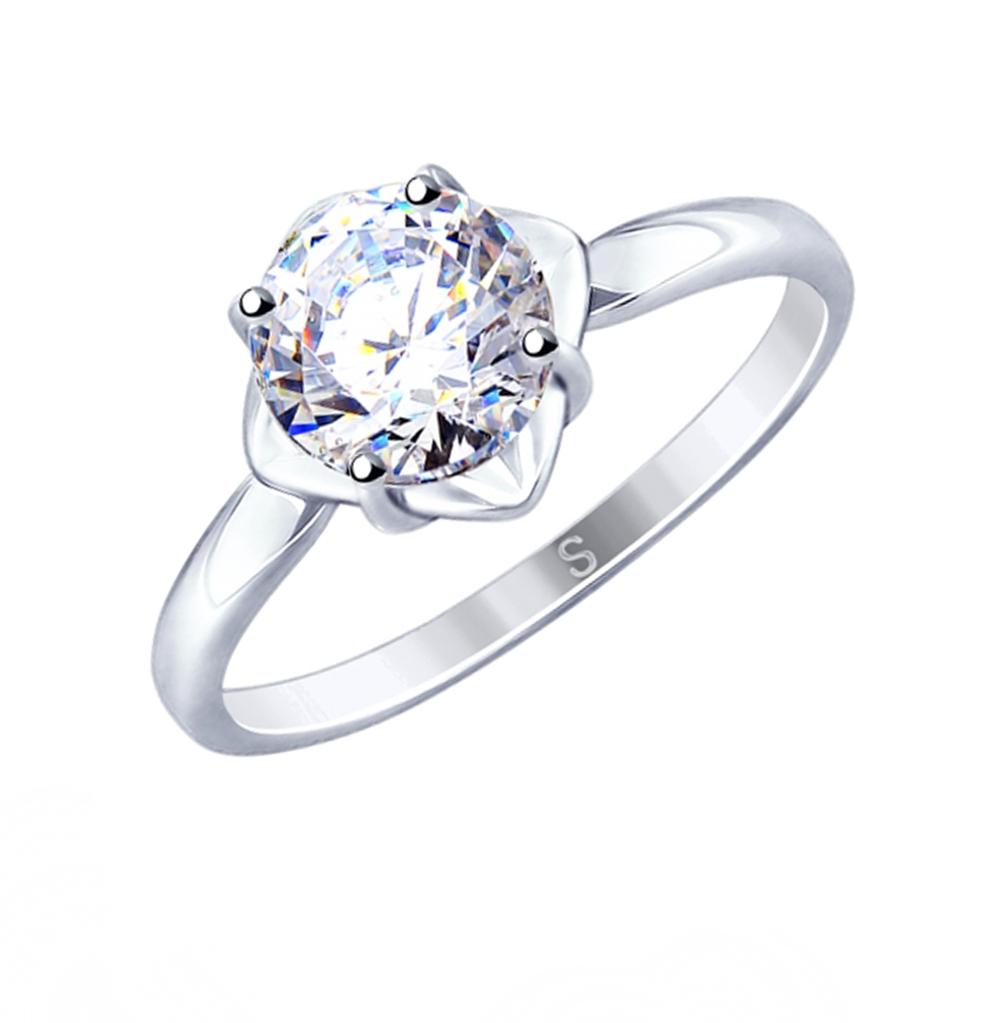 Серебряное кольцо с фианитами SOKOLOV 89010115 в Санкт-Петербурге