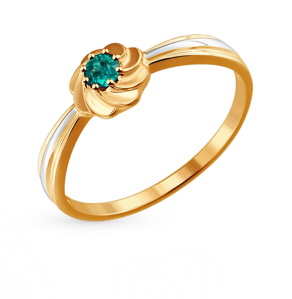 золотое кольцо с изумрудами SOKOLOV 3010532