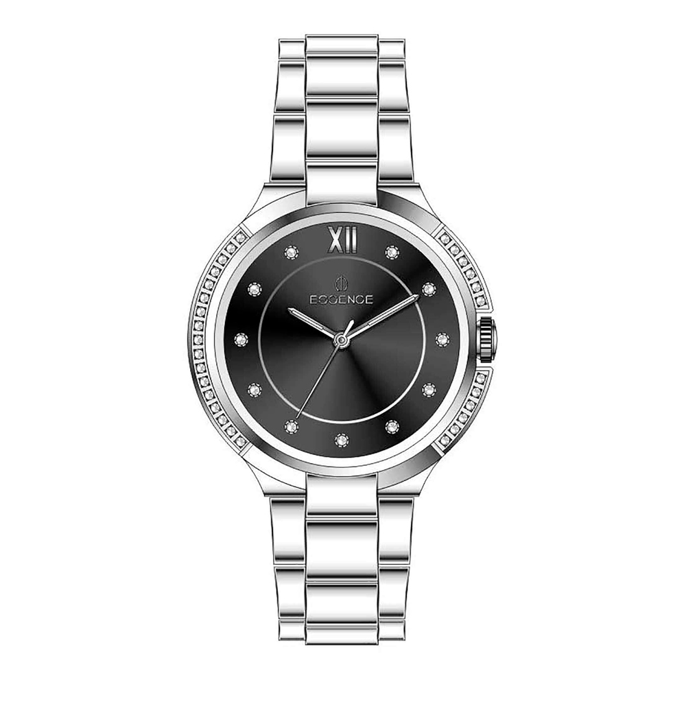 Фото «Женские  кварцевые часы ES6505FE.350 на стальном браслете с минеральным стеклом»