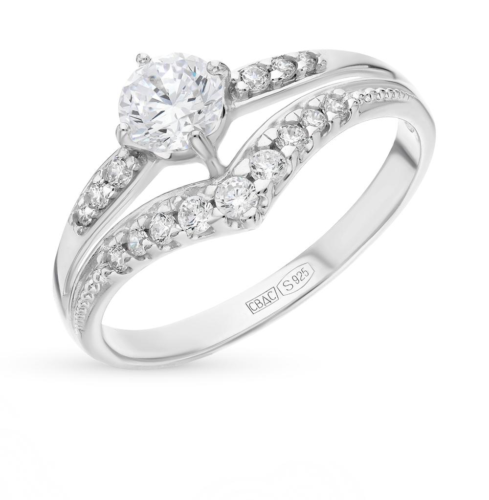 серебряное кольцо с фианитами SOKOLOV 94012243