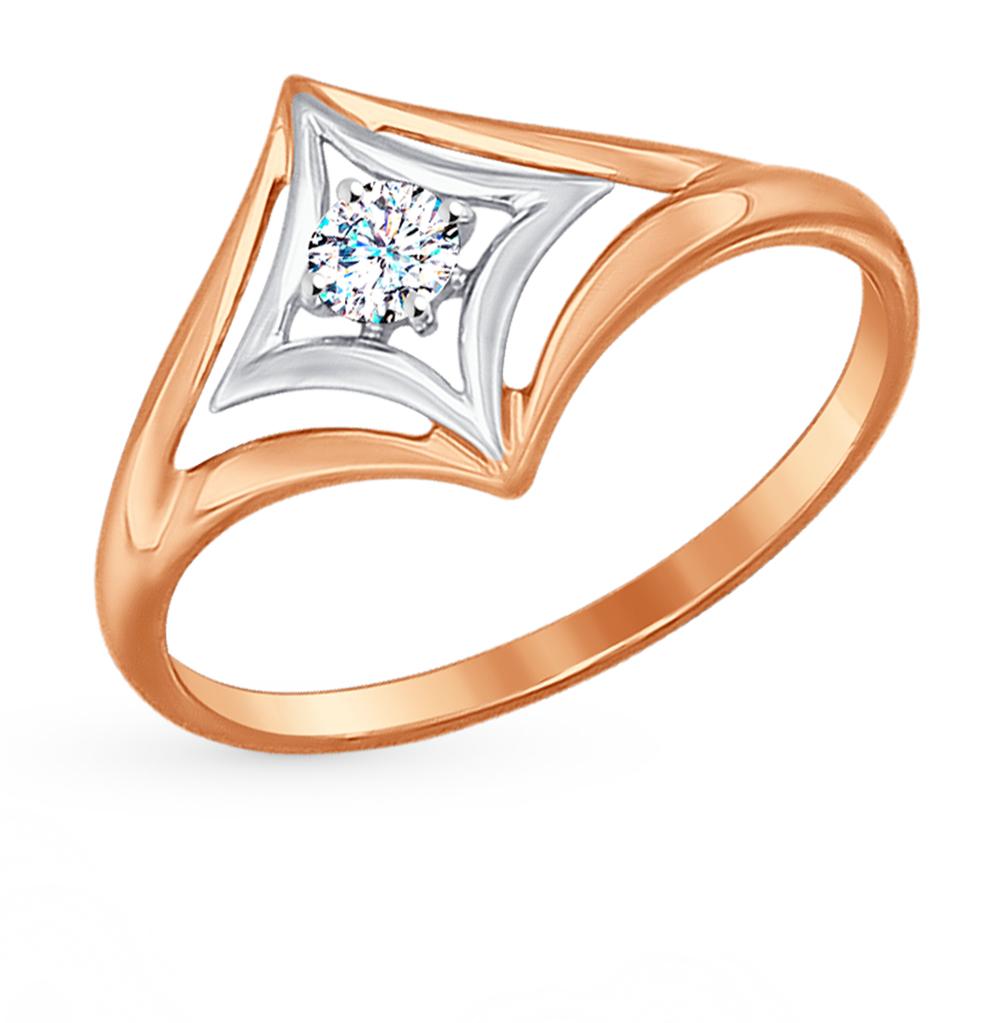 золотое кольцо с фианитами SOKOLOV 017189*