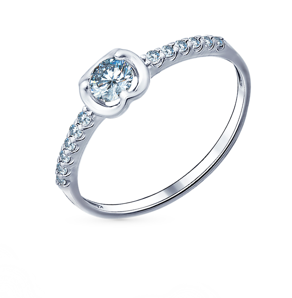 серебряное кольцо с фианитами SOKOLOV 94011492