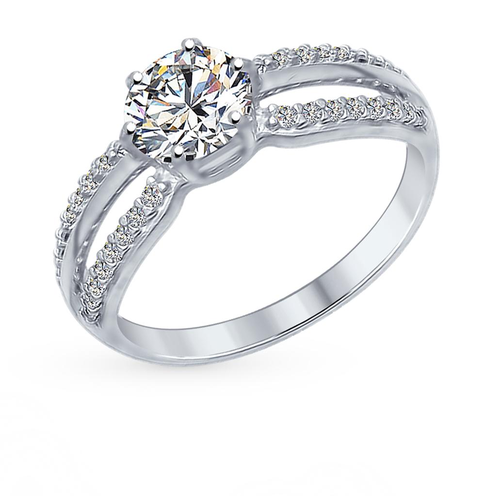 Серебряное кольцо с фианитами SOKOLOV 94012345 в Екатеринбурге