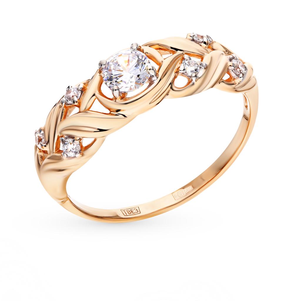Фото «Золотое кольцо с фианитами SOKOLOV 017528*»