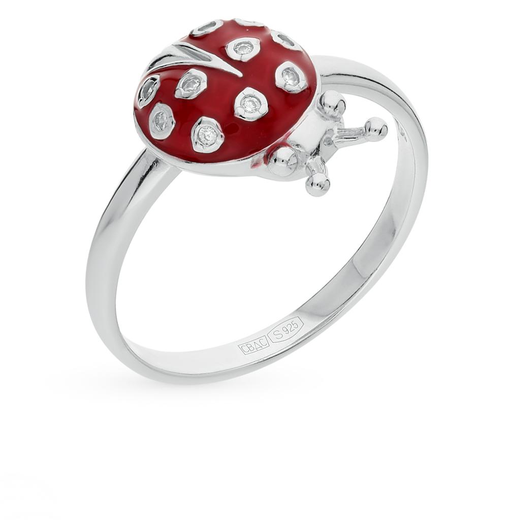 Серебряное кольцо с фианитами и эмалью SOKOLOV 94010400 в Екатеринбурге