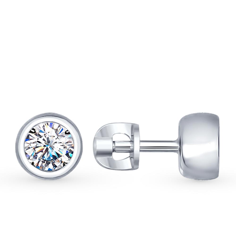 Серебряные серьги с фианитами SOKOLOV 94022230 в Санкт-Петербурге