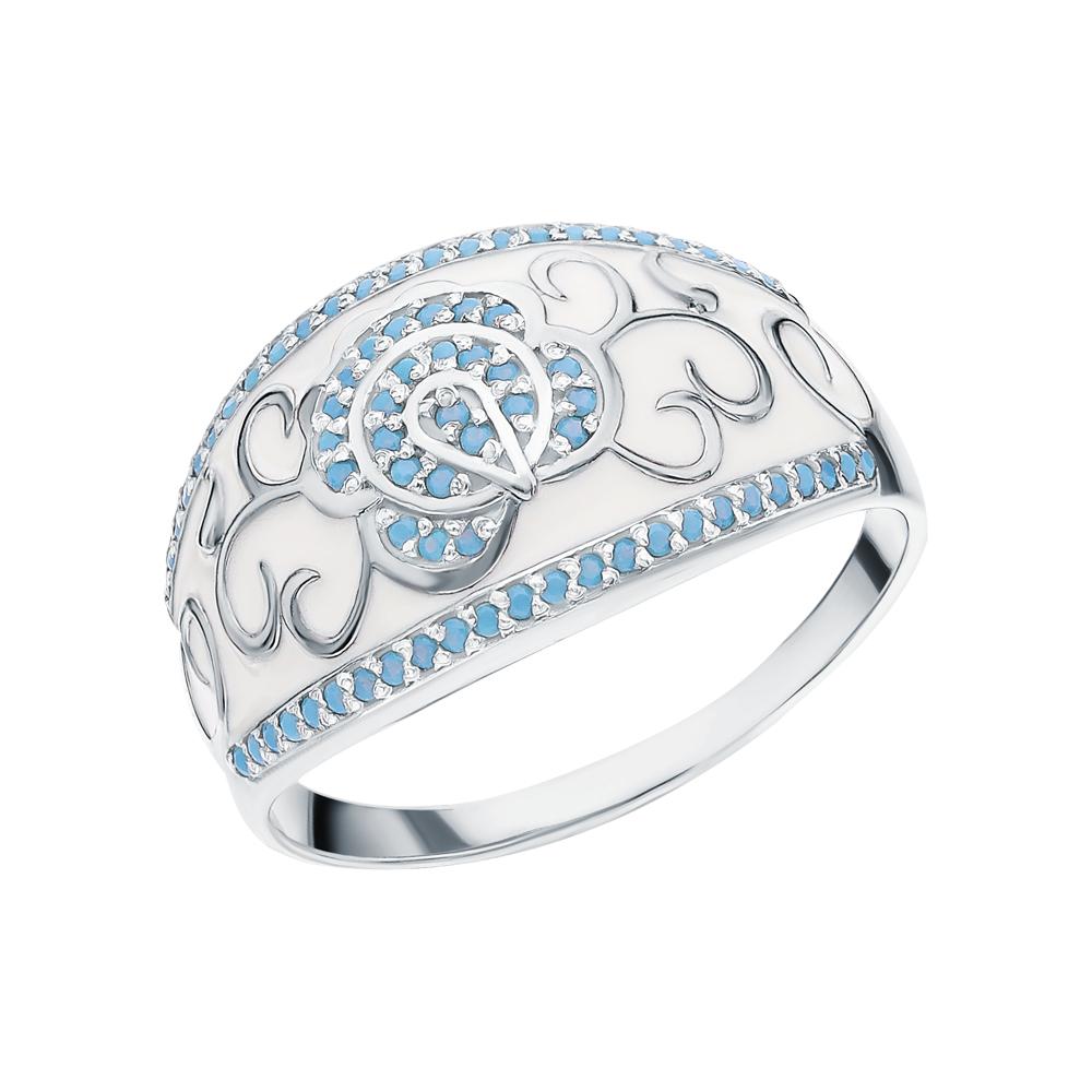 Серебряное кольцо с бирюзой и эмалью в Санкт-Петербурге