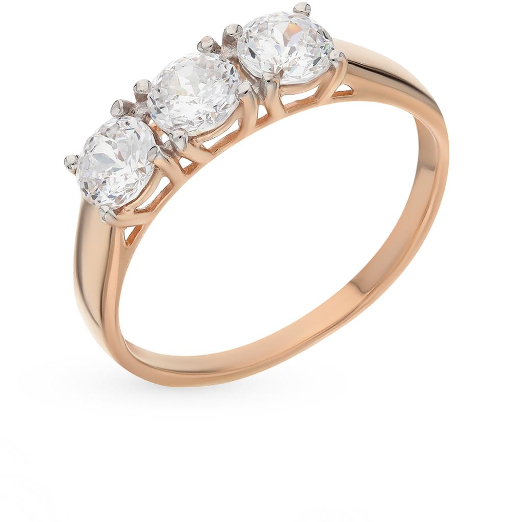Фото «Золотое кольцо с фианитами SOKOLOV 81010279*»