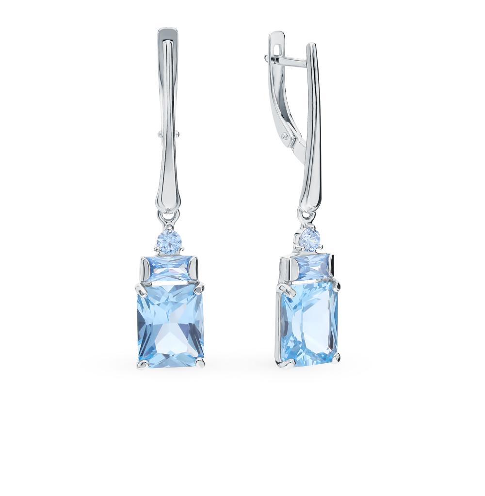 серебряные серьги с фианитами SOKOLOV 94023255