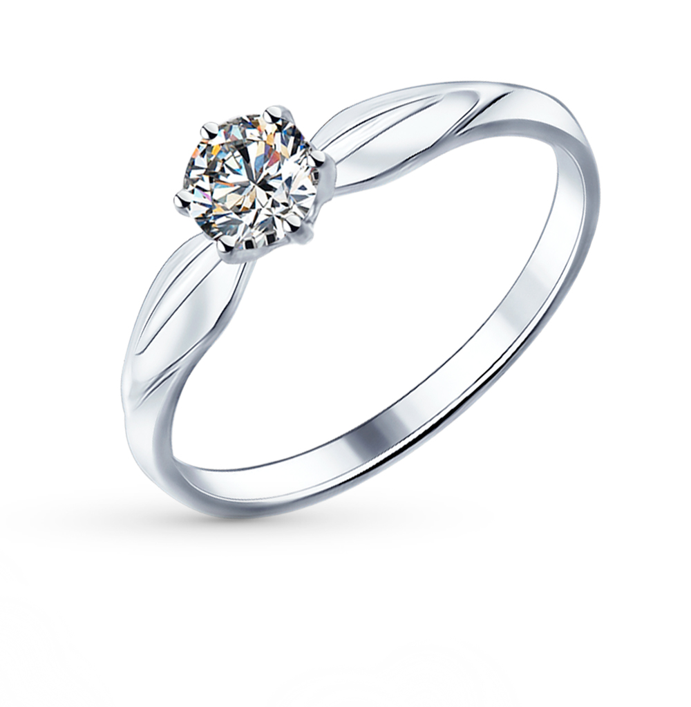 Фото «Серебряное кольцо с фианитами SOKOLOV 89010016»