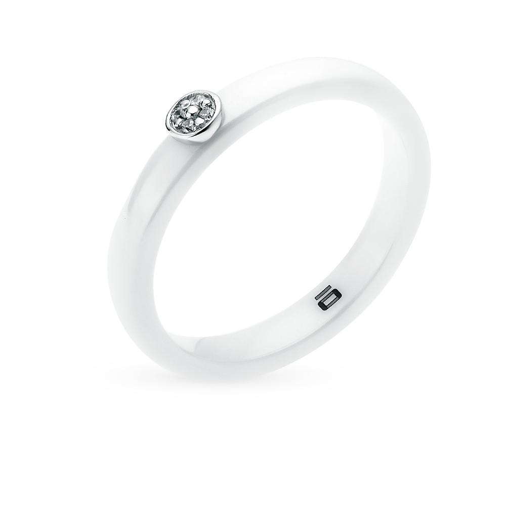 Фото «Кольцо из серебра с керамикой и фианитами»