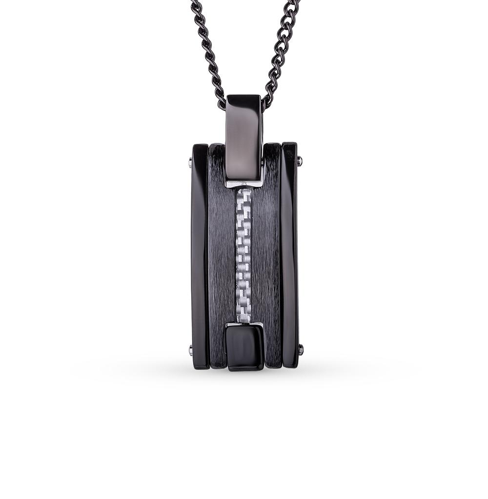 Фото «шейное украшение из серебра с керамикой»