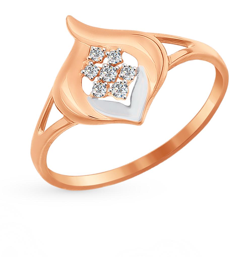 золотое кольцо с фианитами SOKOLOV 016969*