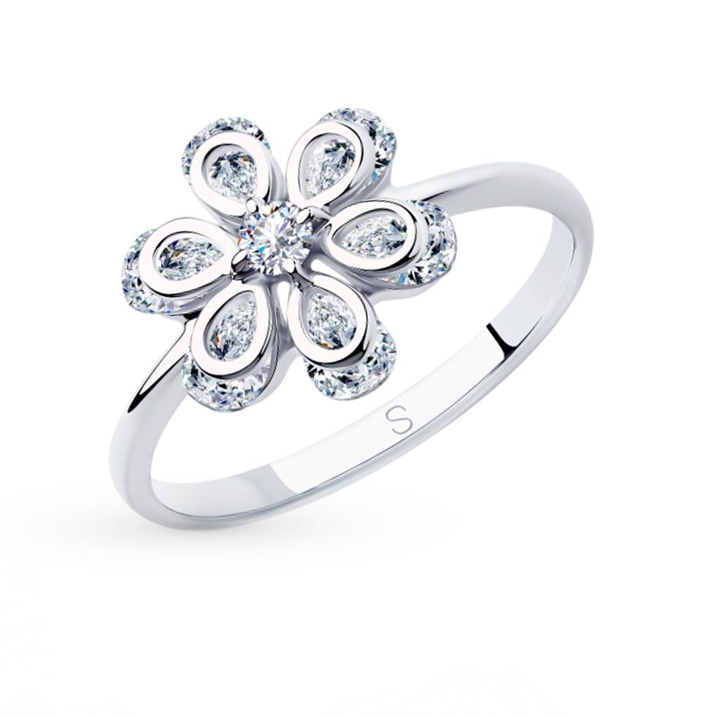 Серебряное кольцо с фианитами SOKOLOV 94012981 в Екатеринбурге