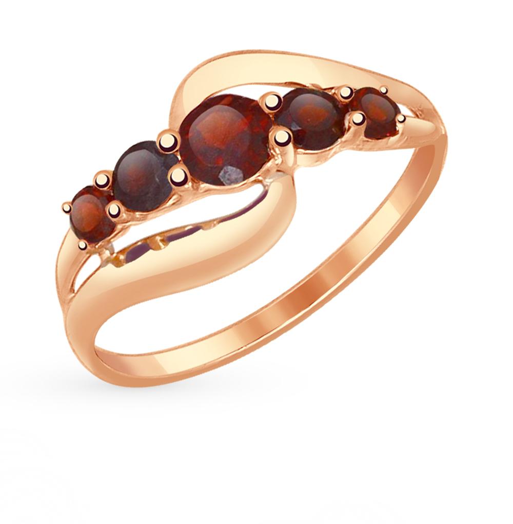 Фото «Золотое кольцо с гранатом SOKOLOV 714536*»