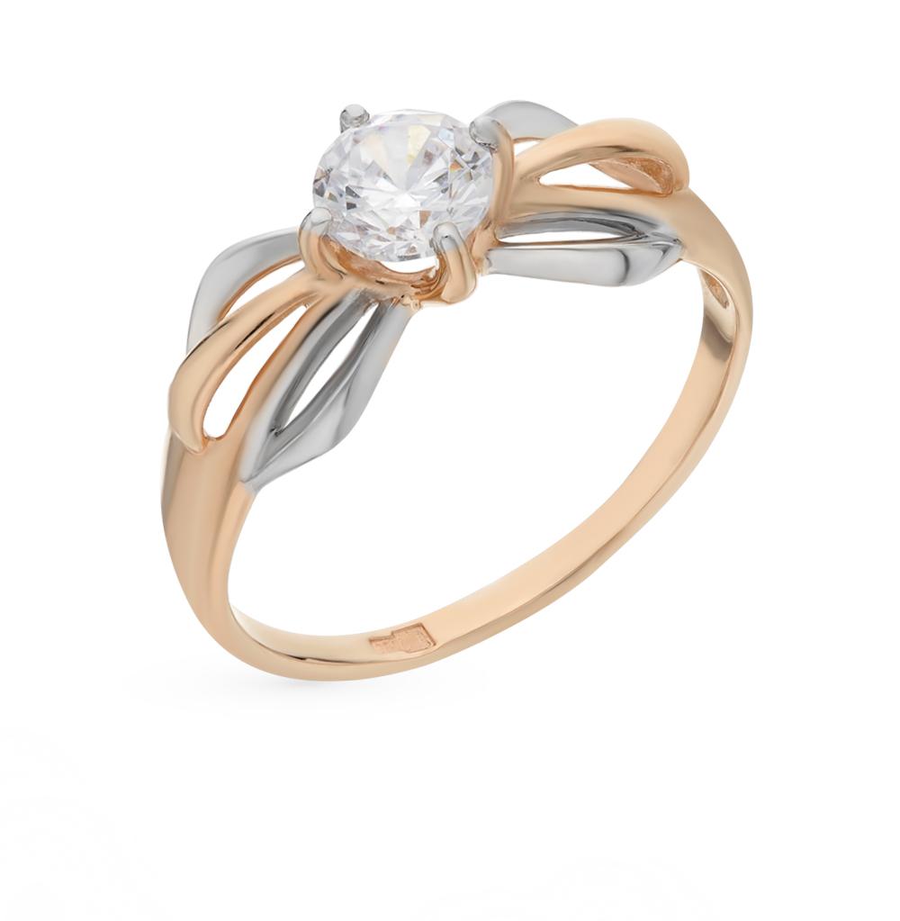 Фото «Золотое кольцо с фианитами SOKOLOV 017452*»