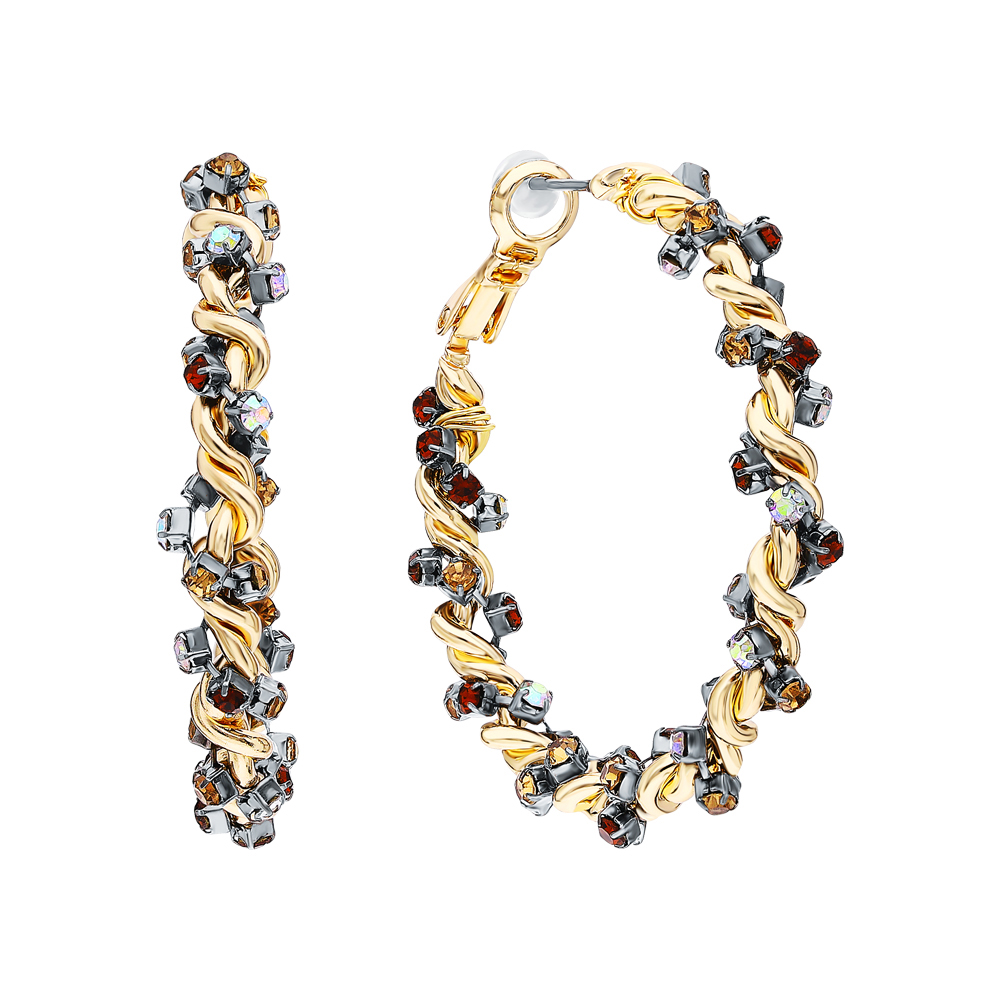 Фото «Стальные серьги с ювелирными кристаллами»