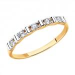 Фото «Золотое кольцо с фианитами SOKOLOV 81010415*»