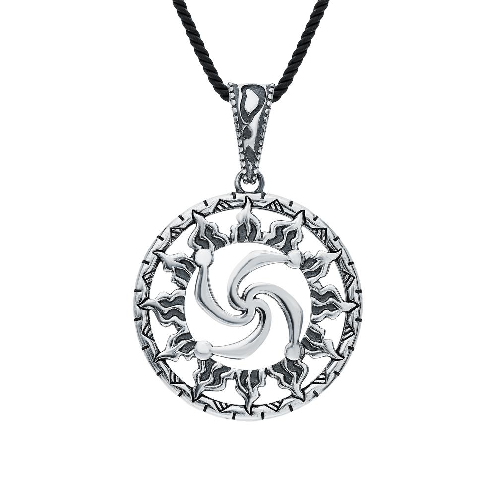 "Фото «Серебряная подвеска-оберег ""символ Рода в солнце""»"