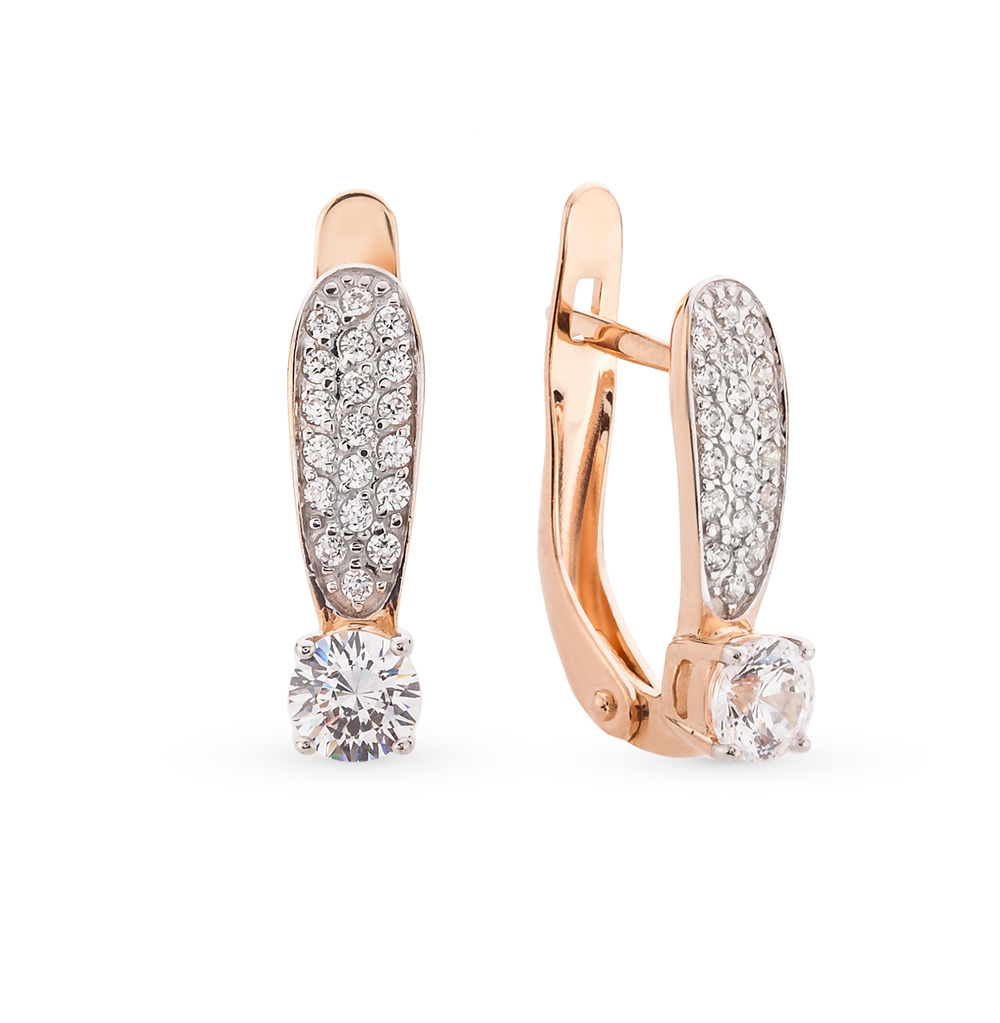 Фото «золотые серьги с кристаллами swarovski»