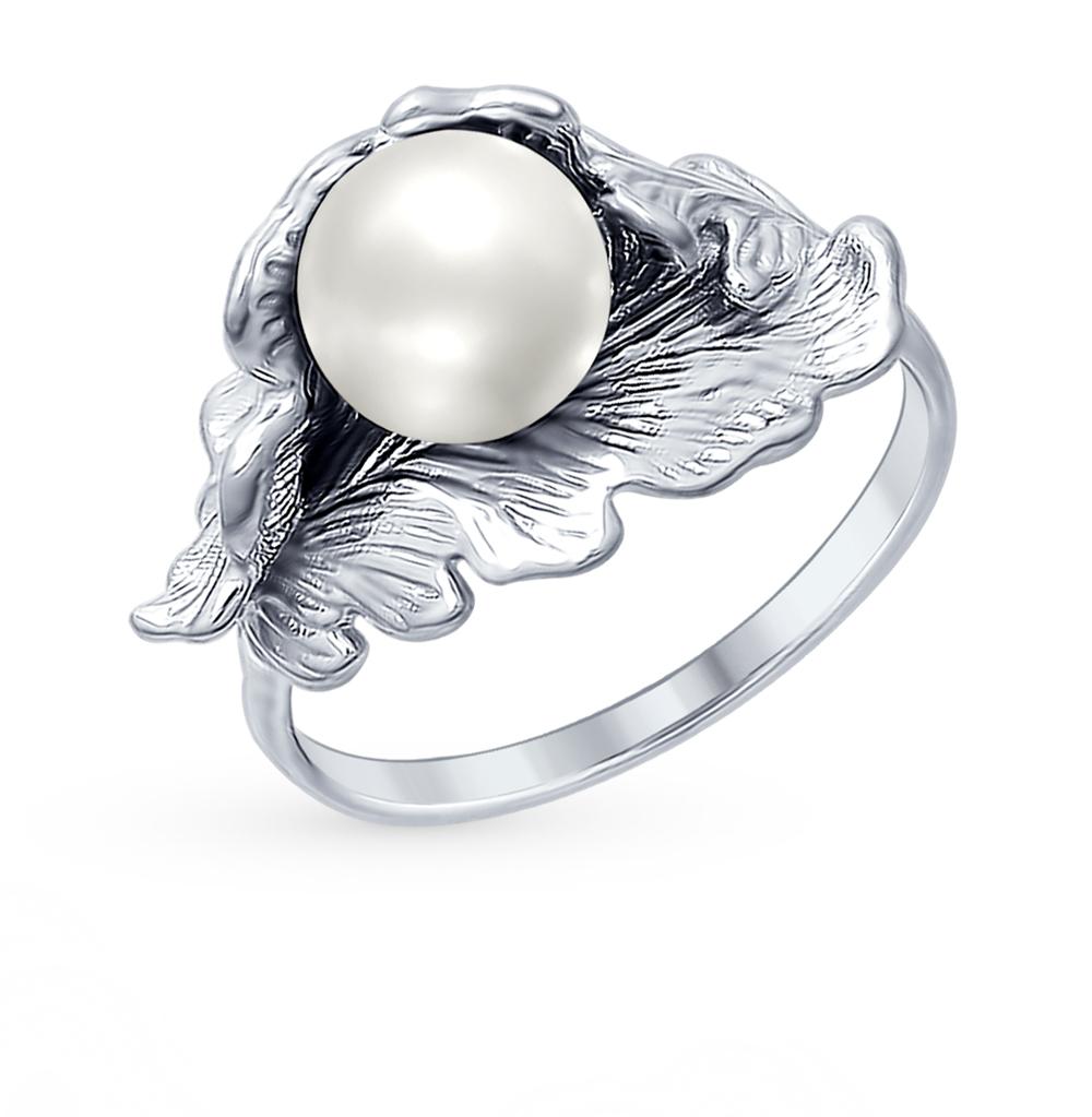 серебряное кольцо с жемчугом SOKOLOV 94012360