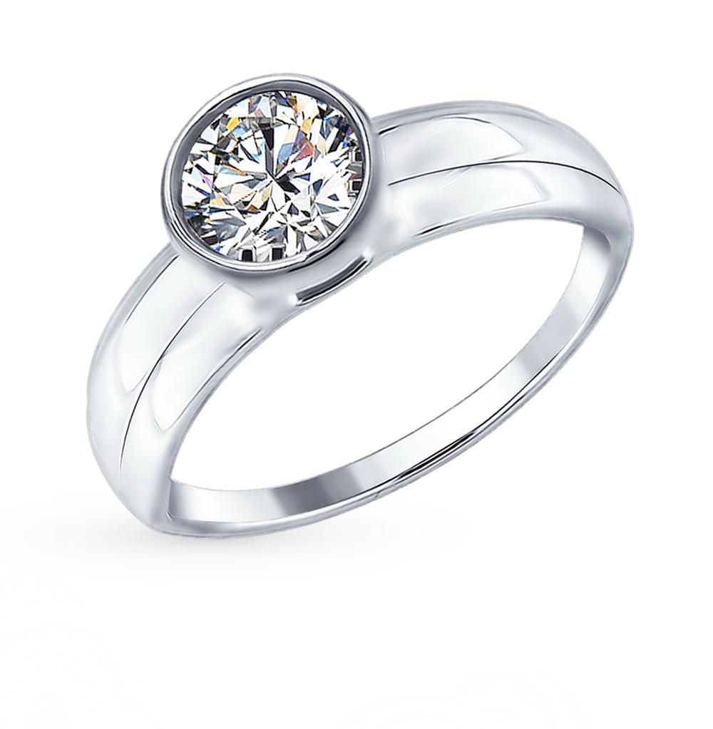 серебряное кольцо с фианитами SOKOLOV 94012383