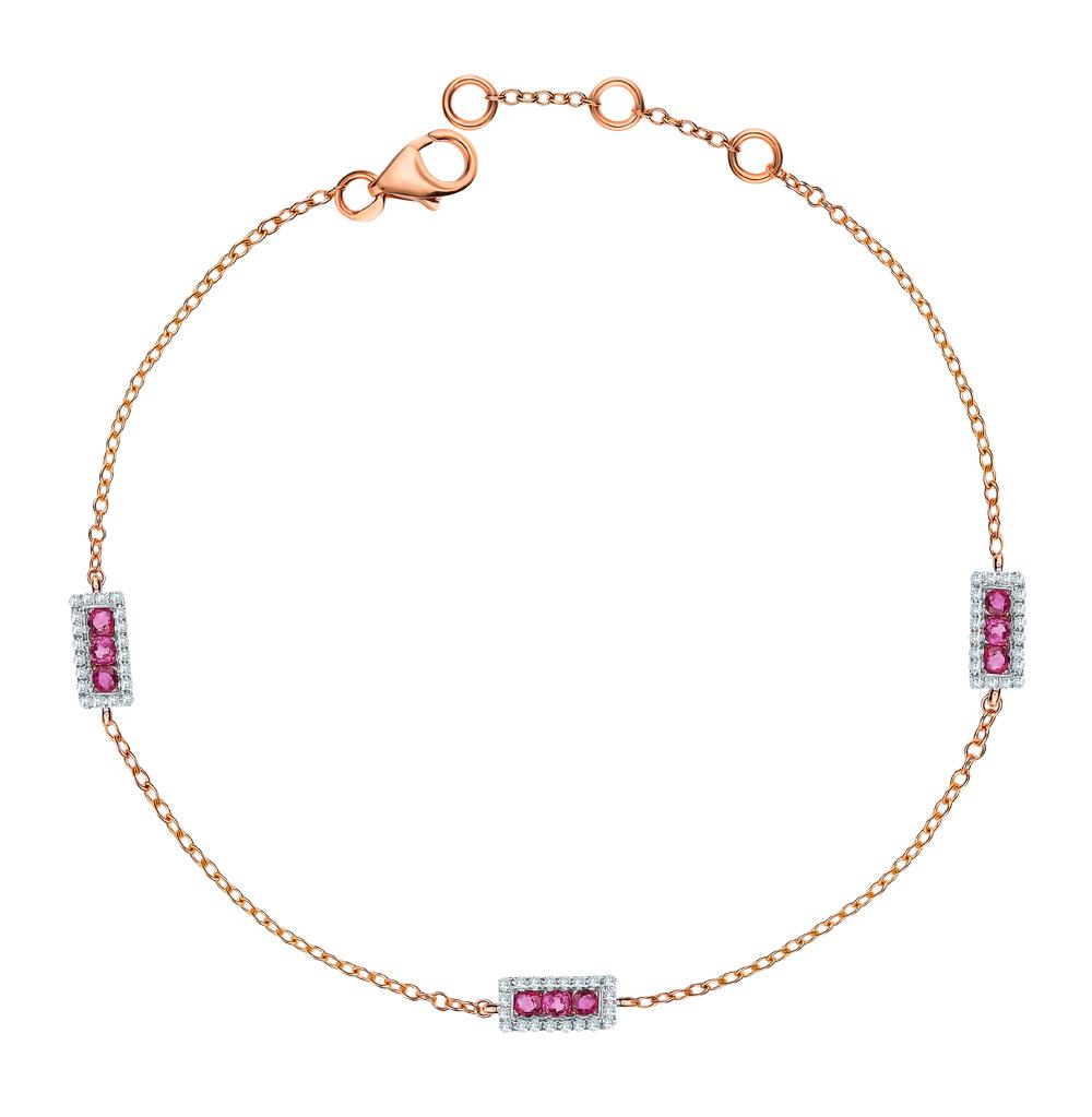 Фото «Золотой браслет с рубинами и бриллиантами»
