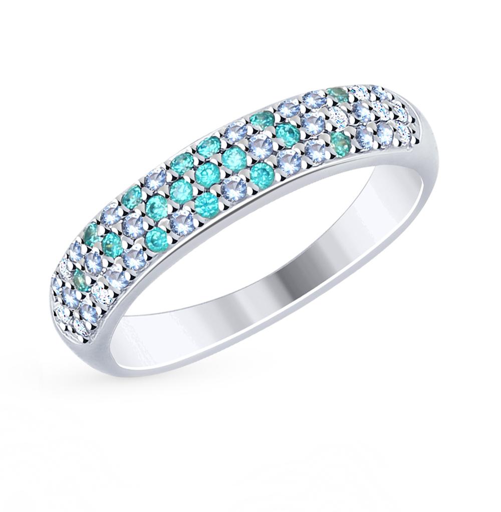 серебряное кольцо с фианитами SOKOLOV 94012473