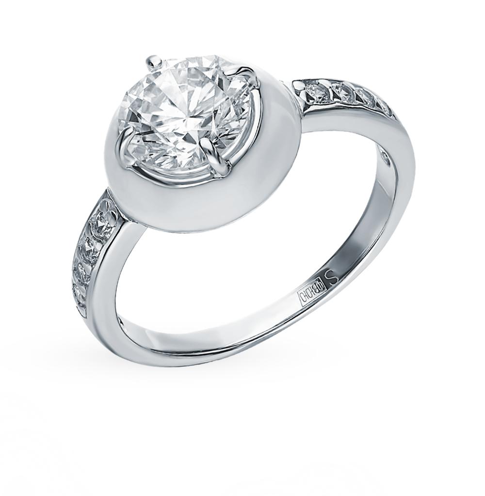 Серебряное кольцо с фианитами и эмалью SOKOLOV 94012729 в Санкт-Петербурге